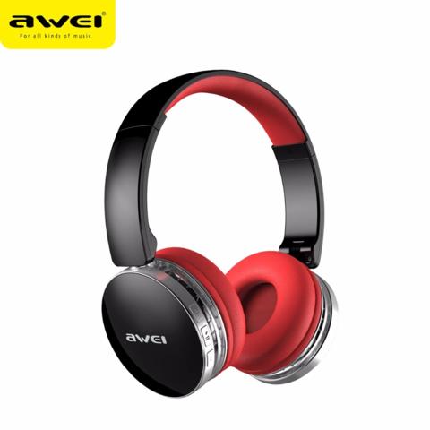 AWEI / Наушники bluetooth с микрофоном A500BL | черный с красным