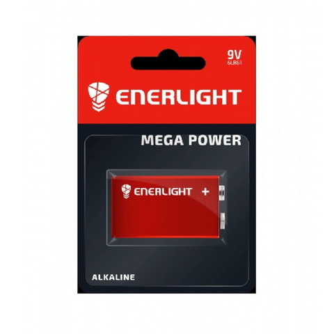 Батарейки Enerlight Mega Power 6LR61, 9V крона (1/10) BL