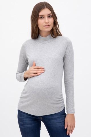 Водолазка для беременных 10045 серый