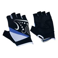 Велоперчатки JAFFSON SCG 47-0118 (чёрный/белый/синий)