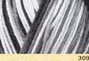 Пряжа Fibranatura Bamboo Jazz Multi 309 (Белый,серый,графит)