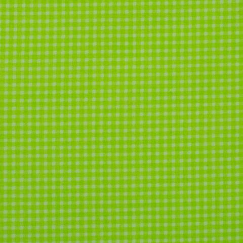 Ткань хлопковая зеленая клетка