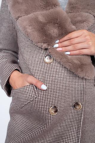 Пальто кашемировое с меховым воротником интернет магазин
