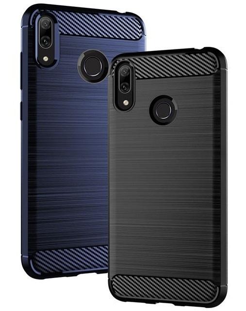 Чехол для Huawei Y7 2019 (Y7 Pro, Y7 Prime) цвет Blue (синий), серия Carbon от Caseport