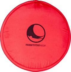 Складывающееся тканевое фризби Ticket to the Moon Pocket Frisbee Red