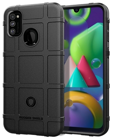 Чехол защитный на Samsung Galaxy M21 (m215f), черный, противоударный, серия Armor от Caseport