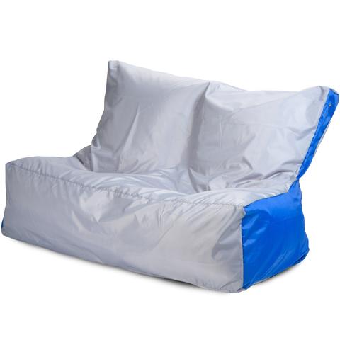 Бескаркасный диван «Классический», Серый и синий