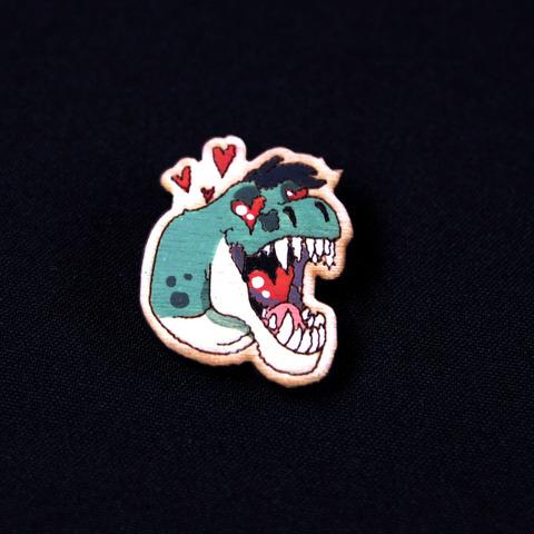 Деревянный значок Влюбленный Оптизавр
