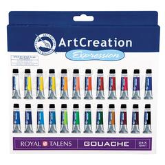 Набор гуаши ArtCreation - 24 цвета в тубах по 12мл