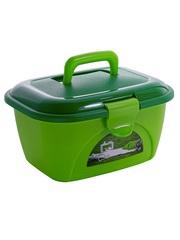 Пластиковый контейнер для хранения Star Box Picnic пикник Эльфпласт салатовый/оранжевый 35х26х21,5 см