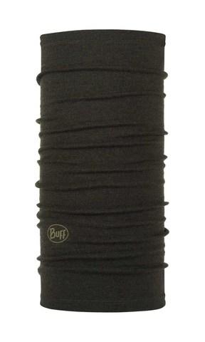 Шерстяной шарф-труба Buff Wool midweight Forest Night Melange фото 1