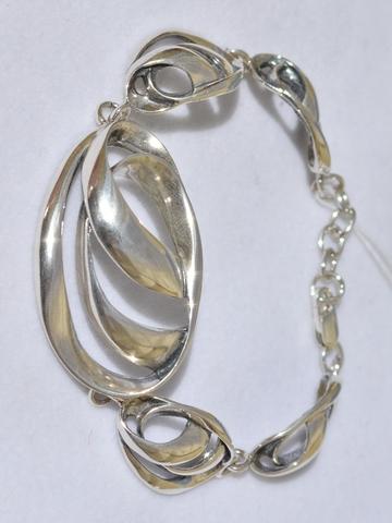 Шторм (браслет из серебра)