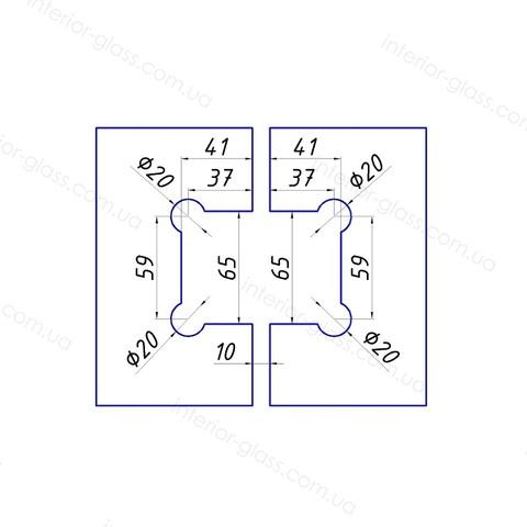 Петля душевая 90 градусов HDL-304 PSS нержавеющая сталь
