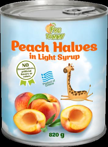 Половинки персиков в сиропе FRUYAMMY в ж/б 820 гр