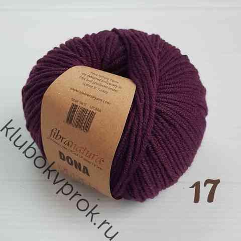 FIBRA NATURA DONA 106-17, Темный фиолетовый