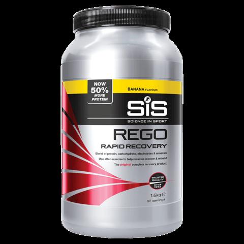 SiS Rego Напиток восстановительный углеводно-белковый в порошке, вкус Банан, 1,6 кг1