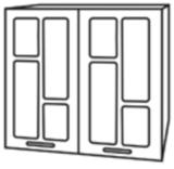 Кухня «Техно» шкаф верхний ШВС600