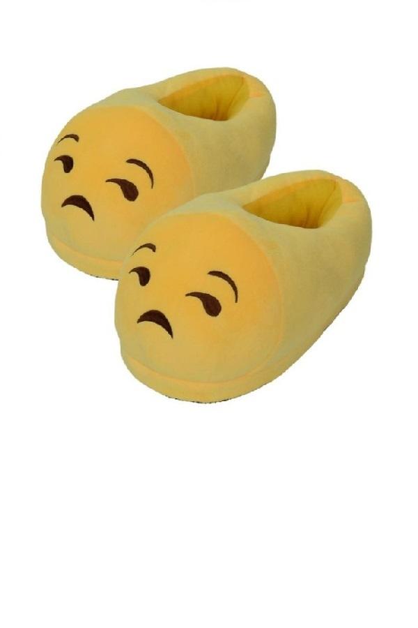 "Тапочки Тапочки Emoji ""Грустный"" Clipboard15.jpg"