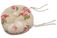 Летний сад (Summer Garden) | Подушка на стул ( круглая ) — хлопок