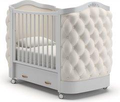 Кровать детская Тиффани декор пуговицы белая ночь