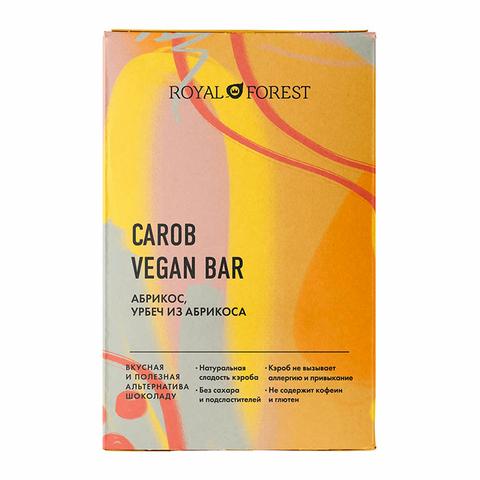 Шоколад ROYAL FOREST CAROB абрикос, урбеч абрикосовый, 50гр. (ТрансКэроб)
