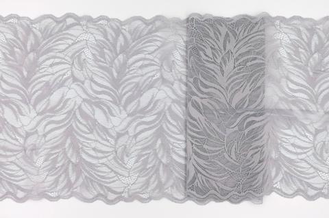 Эластичное кружево, 23 см, светло-серый, (Арт: EK-2150), м
