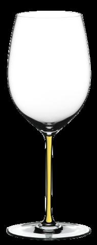 Riedel Fatto a Mano - Фужер Cabernet/Merlot 625 мл хрустальное стекло с желтой ножкой (stemglass) картон