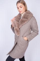 Пальто кашемировое с меховым воротником Nadya