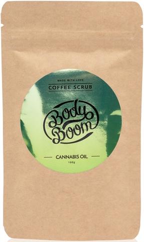 BODY BOOM Кофейный скраб для тела Cannabis oil 100г