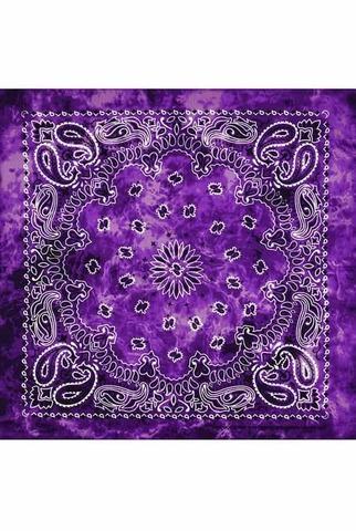Фиолетовая тай дай бандана фото