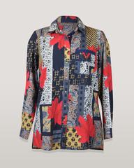 Блузка HAT рубашка карман платки клен