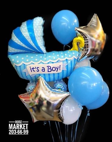 Набор шаров на выписку мальчика #1490
