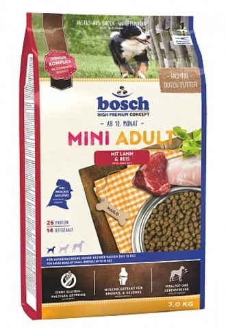 Bosch Mini Adult Lamb & Rice 3 кг