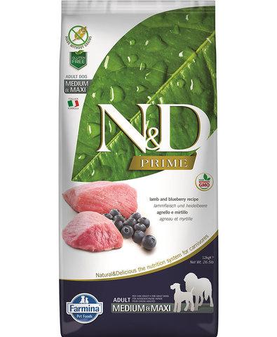 Farmina N&D Dog сухой корм для взрослых собак (ягненок с черникой) 2,5 кг