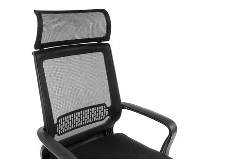Офисное кресло для персонала и руководителя Компьютерное Lion черное 65*65*121 Хромированный металл /Черный