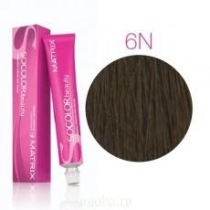 Matrix SOCOLOR.beauty: Neutral 6N темный блондин натуральный, краска стойкая для волос (перманентная), 90мл