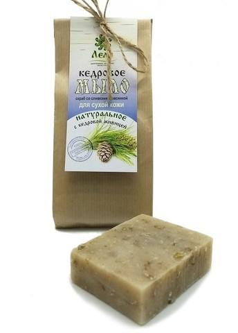 КЕДРОВОЕ мыло-скраб со сливками и овсянкой для сухой кожи, 80 г
