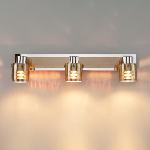 Настенный светильник 23463/3 хром / античная бронза