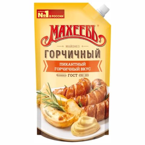 Майонез МАХЕЕВЪ Горчичный 380 г РОССИЯ