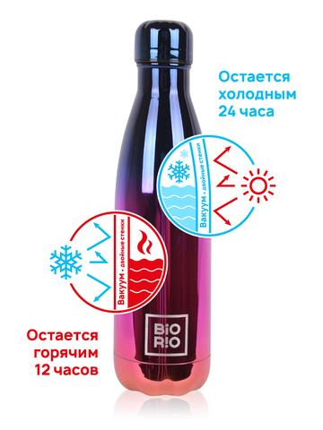 Бутылка-термос металлическая Градиент 0,5 л