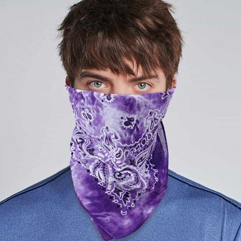 Тай дай бандана фиолетовая фото