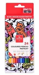 Карандаши цветные TEENAGE 3554, 24 цвета с точилкой