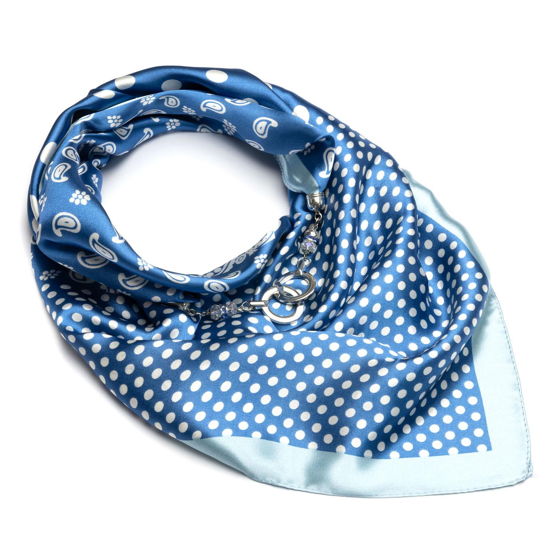 Голубой платок в горошек