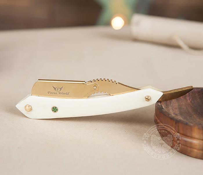 RAZ226 Оригинальная шаветка для сменных лезвий с золотистым держателем фото 02
