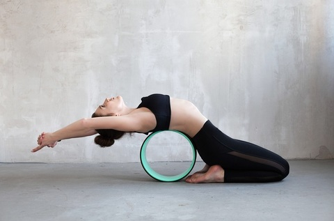Йога-колесо Лотос (33 см, роз-фиол)