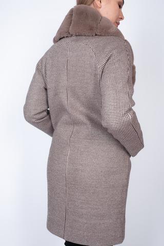 Пальто кашемировое с меховым воротником оптом