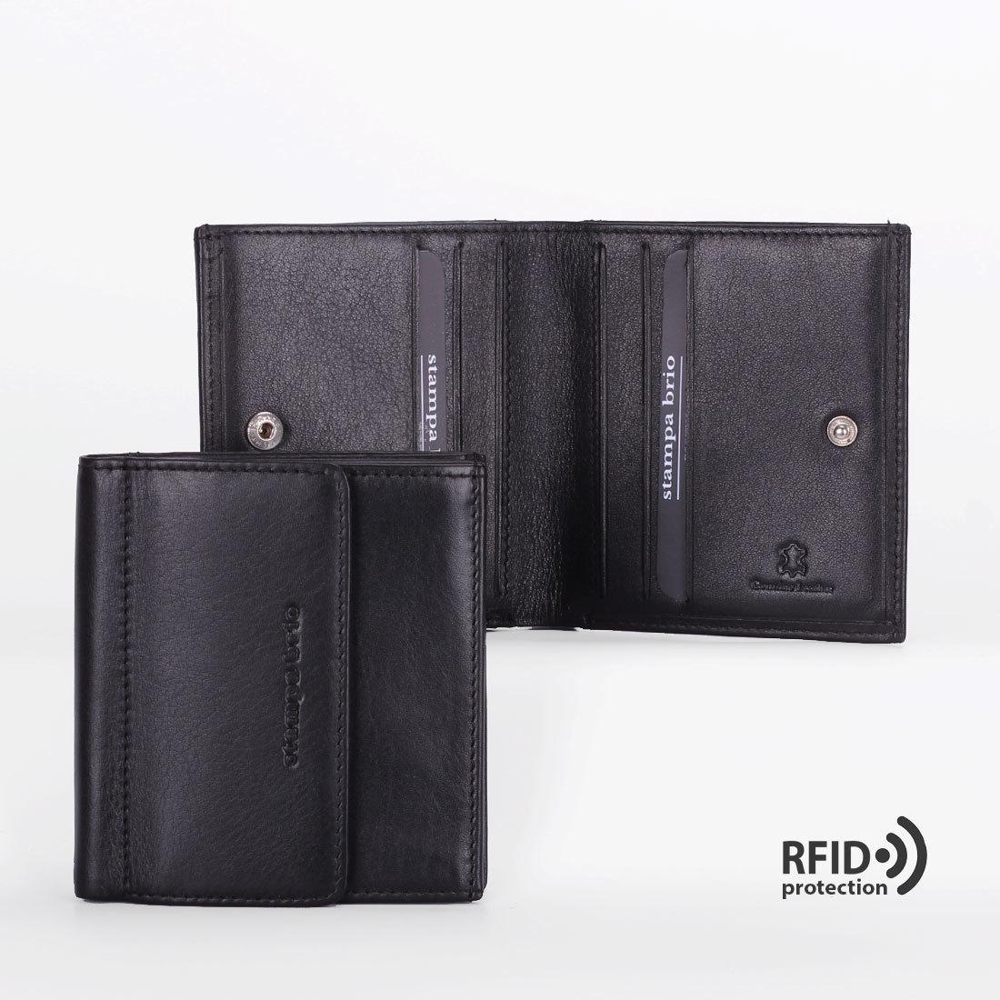 614 R - Портмоне  с монетником снаружи и RFID защитой