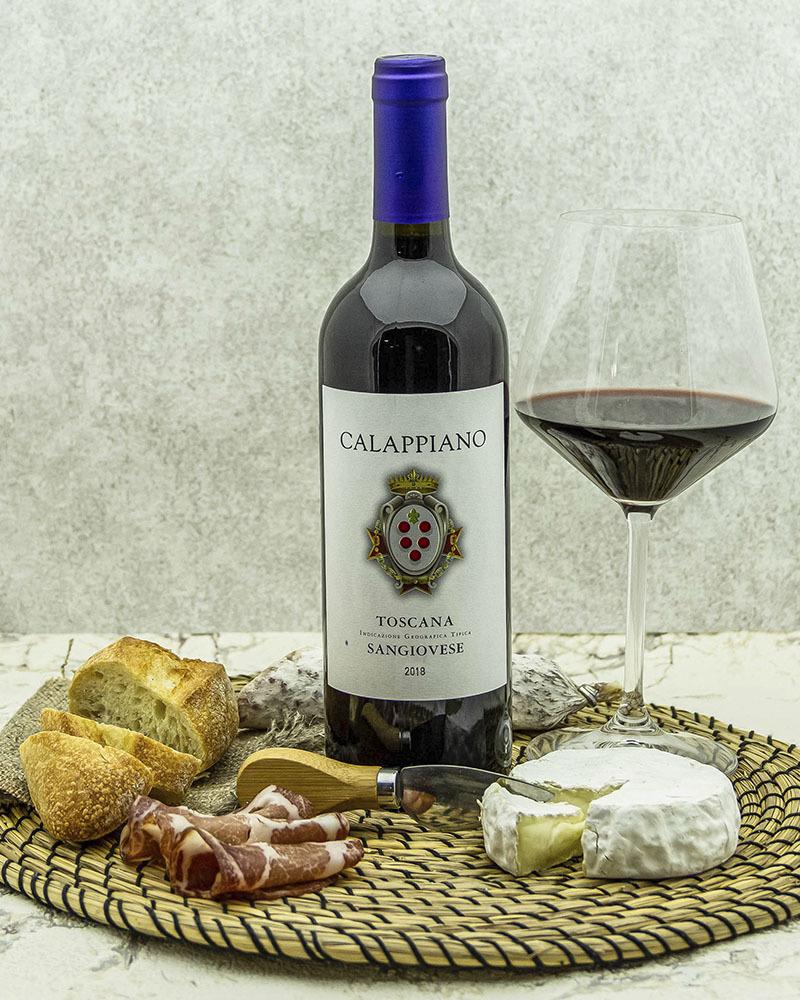 Вино Fattoria di Calappiano Санджовезе Калаппиано Красное Сухое 2018 г.у. 13% 0,75 л.