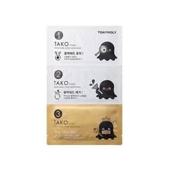 Полоски для носа TONYMOLY Tako Pore Gold King 3-Step Nose Pack 1ea