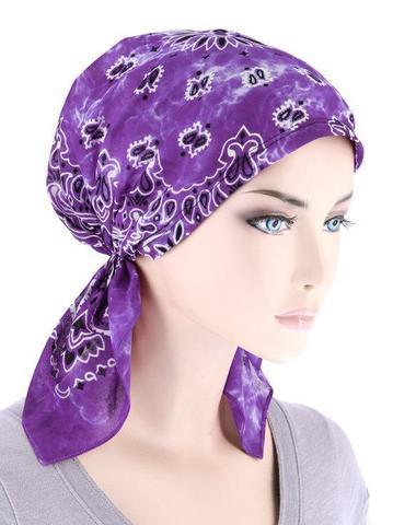 Тай-дай бандана фиолетовая фото
